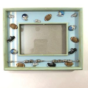 Football Sports Picture Frame Ceramic Embellished